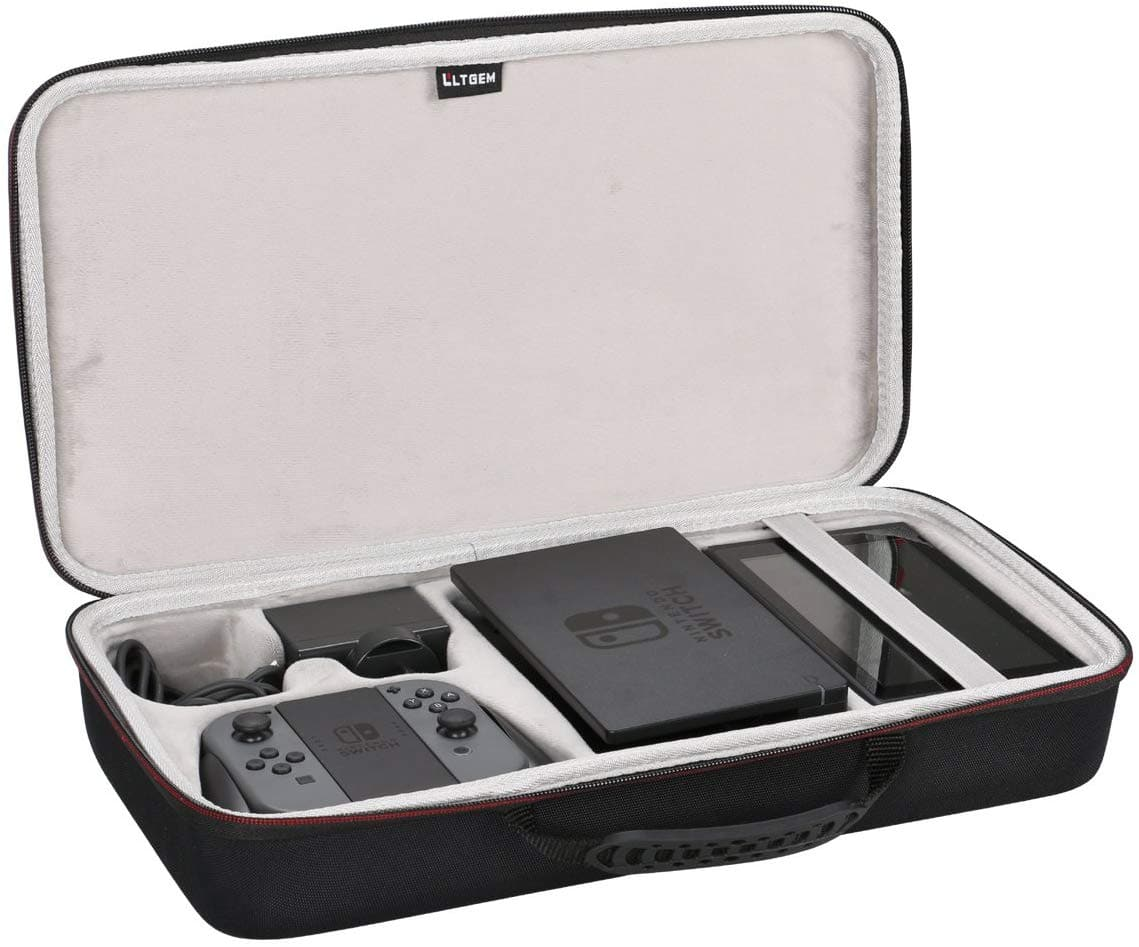 Travel Carrying Case for Nintendo Switch, Fits Joy- Con/ Power Adapter/ Dock/ Grip for $16.19 + Free Shipping