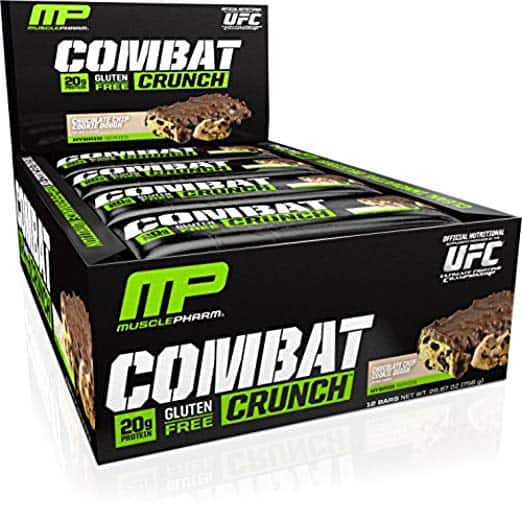 12-Pack MusclePharm Combat Crunch Protein Bar, Chocolate Chip Cookie Dough for $15.39