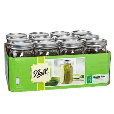 Ball 12ct 32oz Glass Mason Jar with Lid and Band - Wide Mouth $10.35 @Target