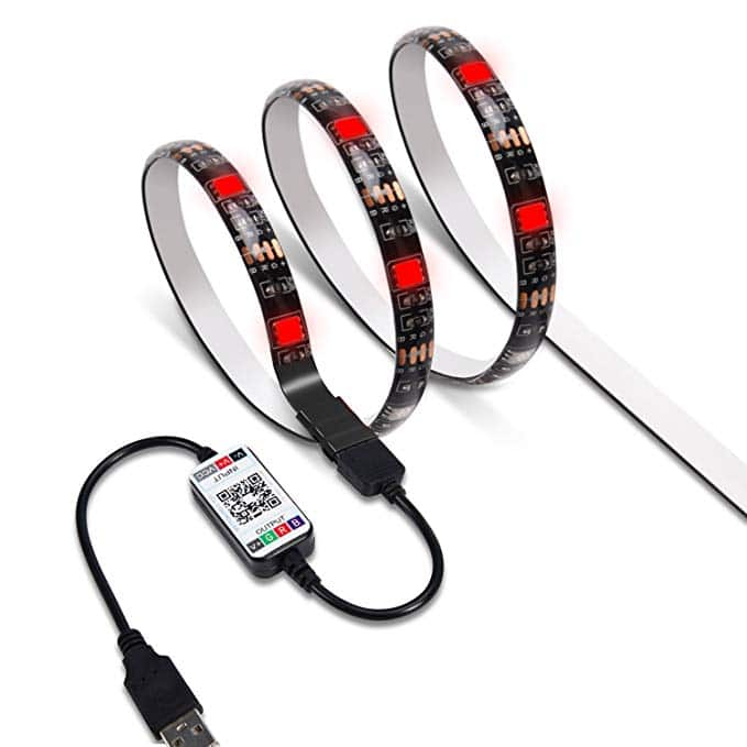 6 6ft RGB SMD5050 LED Strip Light with App Bluetooth Control for TV