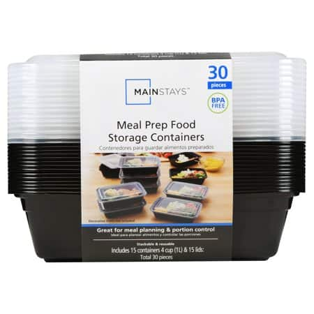 15-Count Mainstays Meal Prep Food Storage Containers $8.96 @Walmart