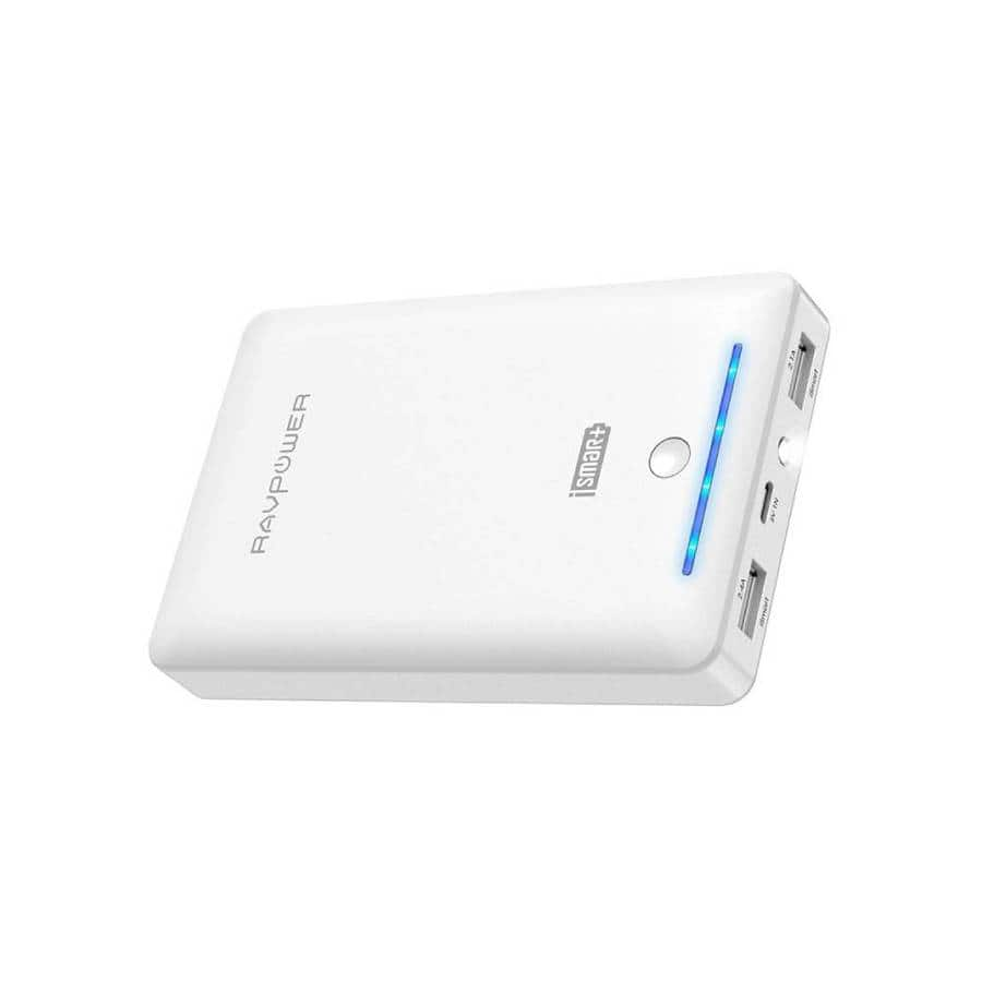 RAVPower 16750mAh 2-Port Power Bank with Built-In Flashlight $16.99 + Free Shipping