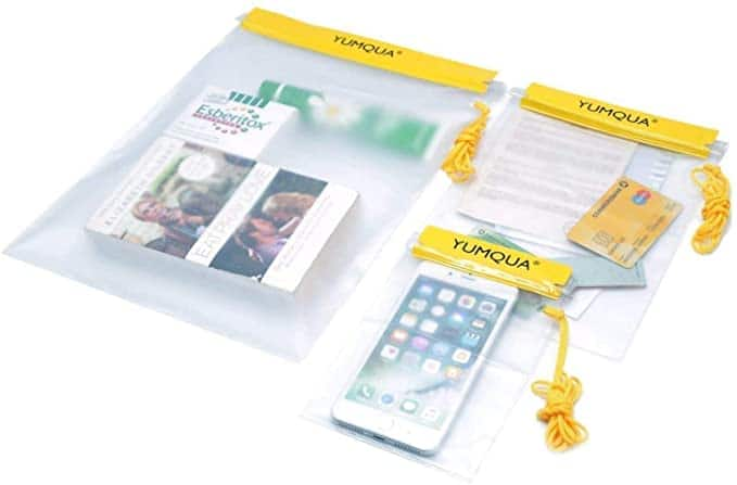 Set of 3 YUMQUA Clear Waterproof Bags for Camera Mobile Phone $6.99 + FS with Prime