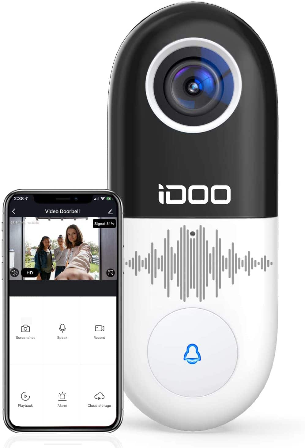 1080P HD WiFi Video Doorbell with 2-Way Audio & Night Vision $44.99 + Free Shipping