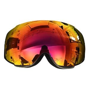 Ski Goggles with Big, Interchangeable Anti-Fog Lens for $24.99 + free shipping (Prime) @ Amazon