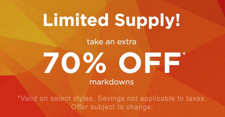Pacsun 70% off sale