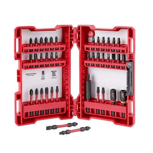 Milwaukee Shockwave Impact Duty Driver Bit Set (40-Piece) $9.97