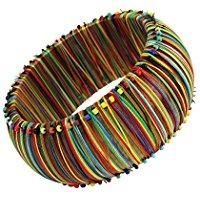 50% Treska Bohemian Multi Color Thread Wrapped Bracelet $8.99