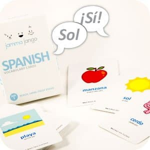 50% Off Jamma Jango Bilingual Vocabulary Flash Cards: Beach, Farm, and Fruit Stand $9.99