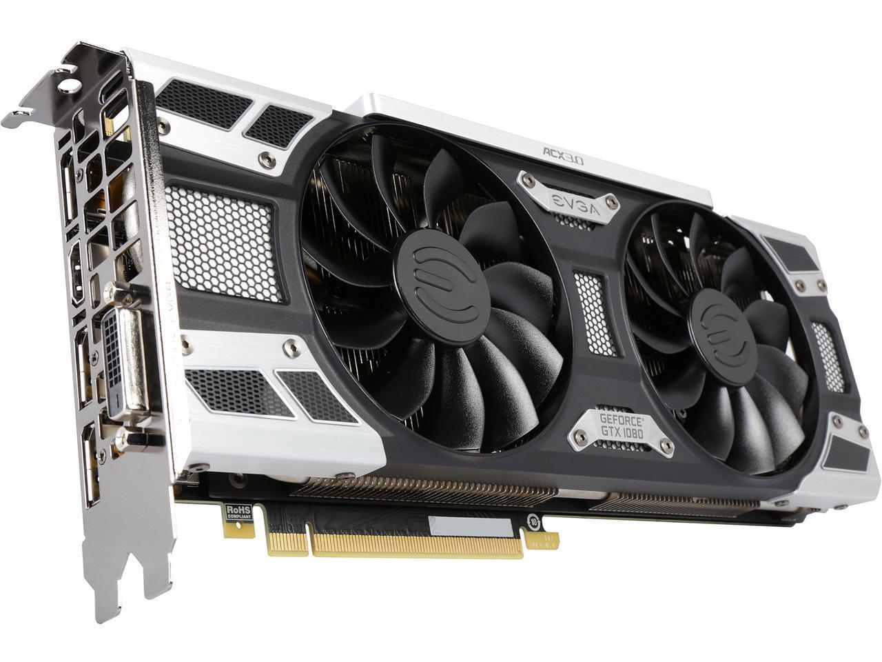 EVGA GeForce GTX 1080 SC Gaming 8GB GDDR5X Video Card $490 after $30 Rebate + Free S/H