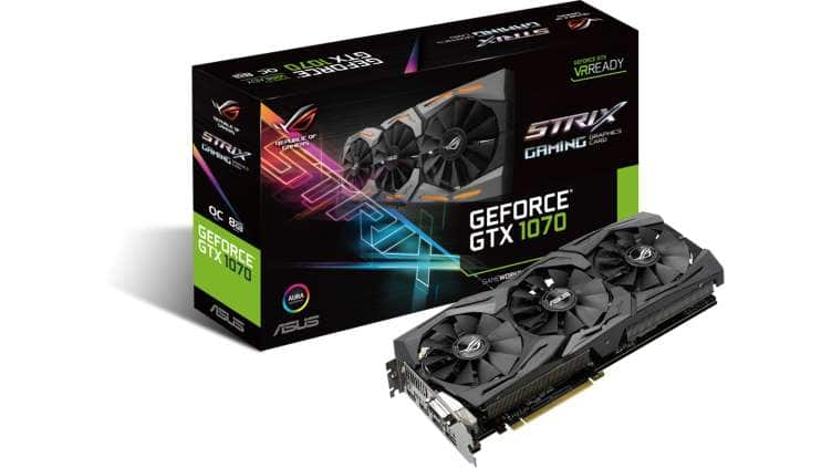 Asus GeForce GTX 1070 ROG Strix OC Edition 8GB 256-Bit Graphics Card - $340 + tax AR (student email required)