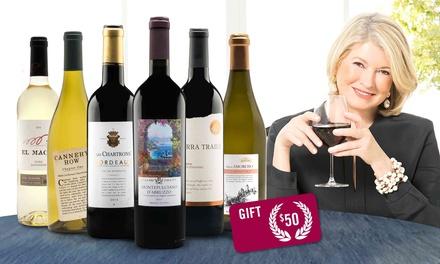 19 bottles of wine from Martha Stewart Wine with Amex Offer YMMV $67