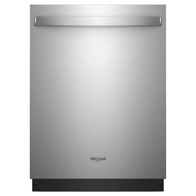 Whirlpool Stainless Steel Dishwasher With Third Rack And Stainless Steel Tub $549