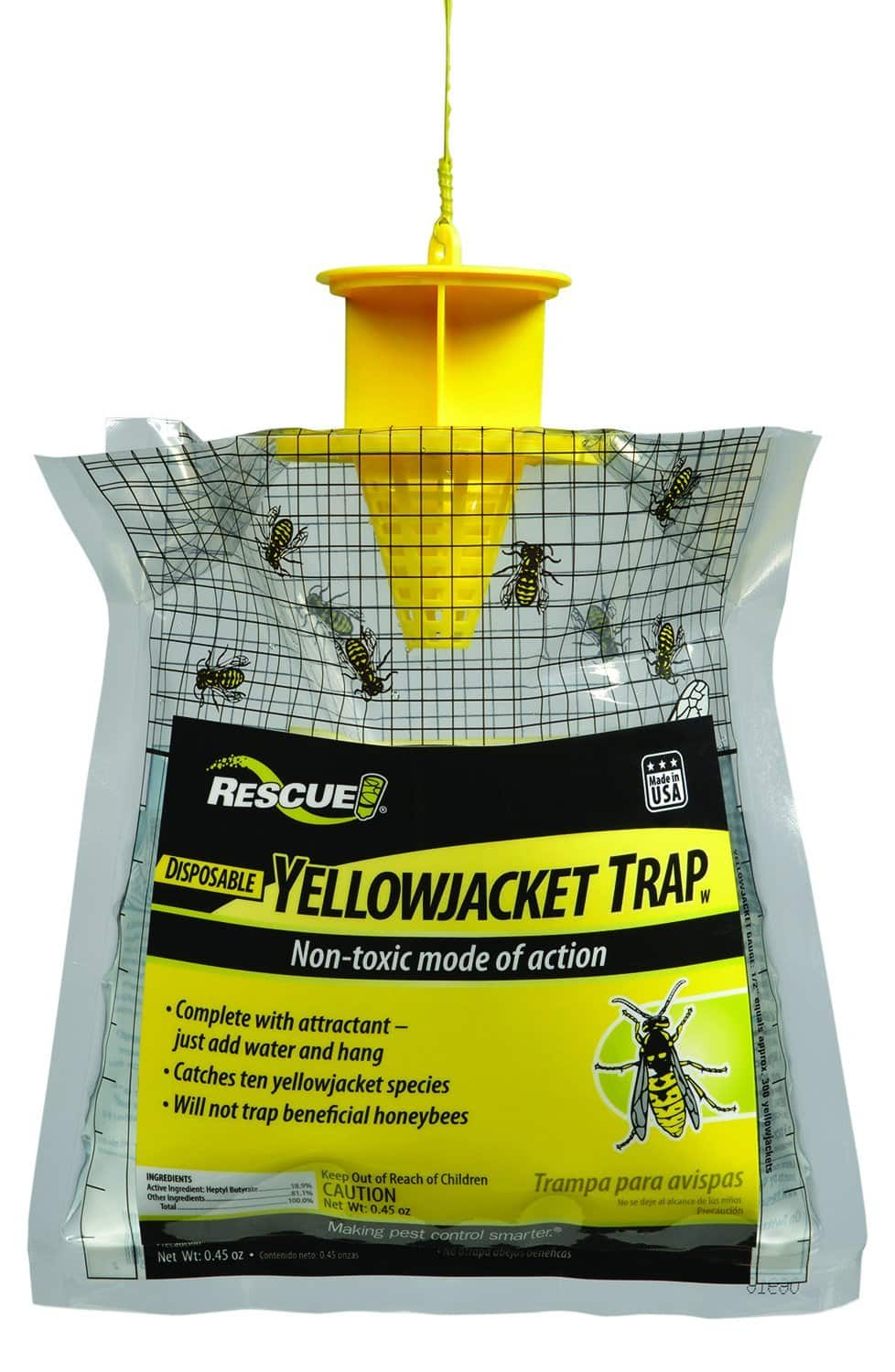 RESCUE! Non-Toxic Disposable Yellowjacket Trap, East of the Rockies $3.77