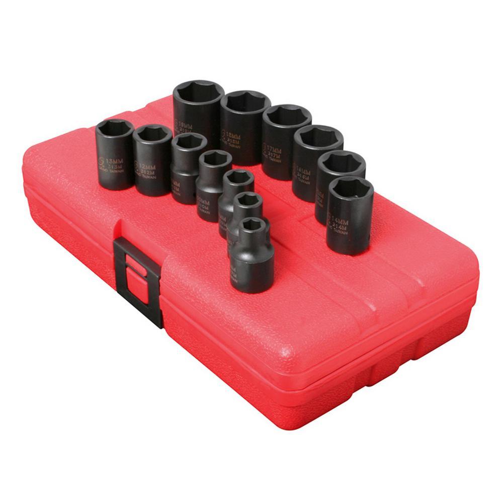 Sunex Metric 3/8 in Drive Impact Socket Sets $21.99