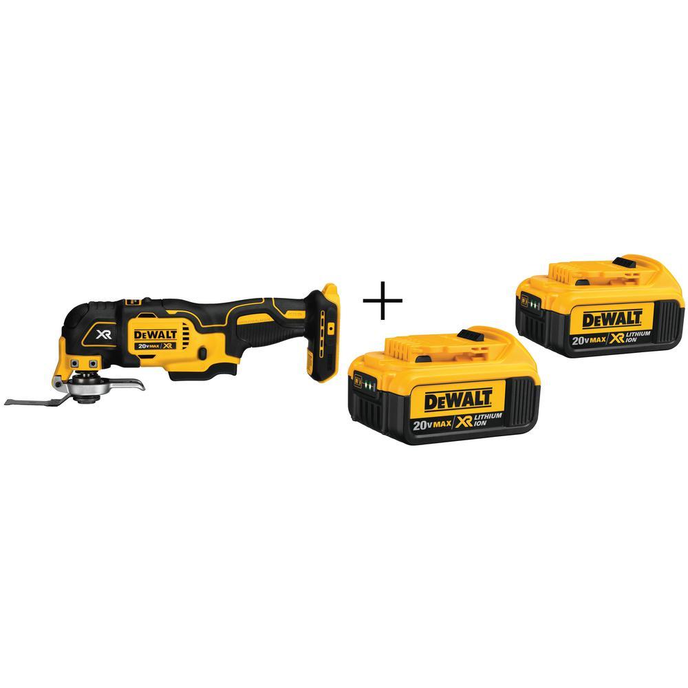 Dewalt 20-V Oscillating Multi-Tool with 2 Free 4 Ah Batteries $139