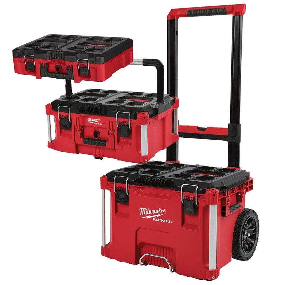 Milwaukee PACKOUT 3-Piece Tool Box Kit with Foam Insert  $199