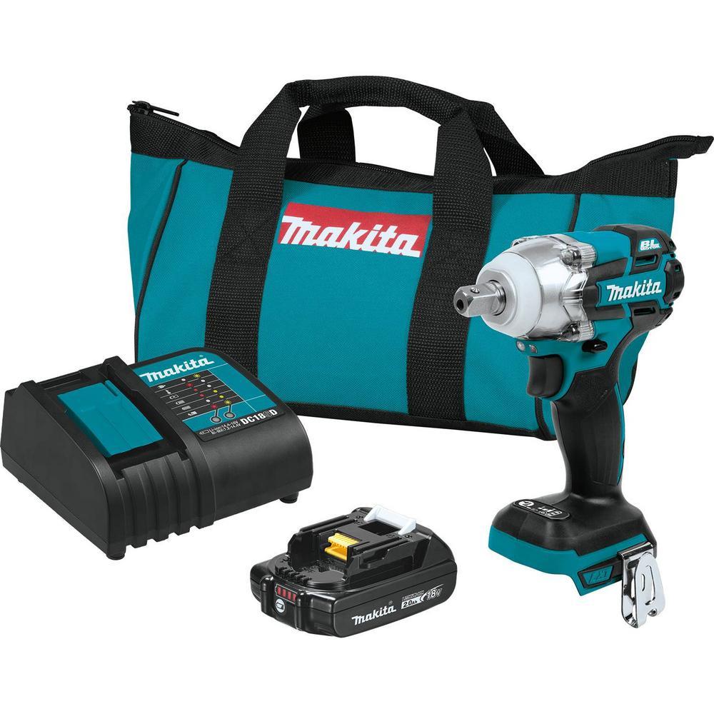 Makita Brushless 1/2 in 3-Speed Impact Wrench Kit 2.0 Ah $149