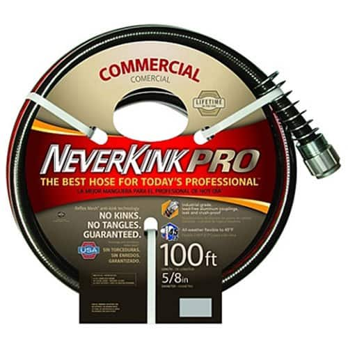 NeverKink 8844-100 Series 4000 Commercial Duty Pro Garden Hose, 5/8-Inch by 100-Feet $34.51