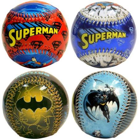 Combo 4 BaseBalls, Superman-Batman $11.43