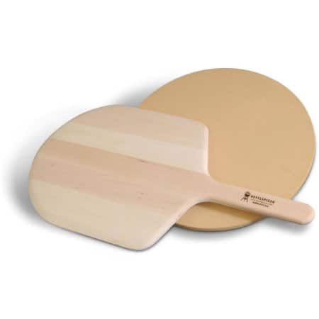 "Kettle Pizza Wooden Peel and 15"" Cordierite Stone $22.86"