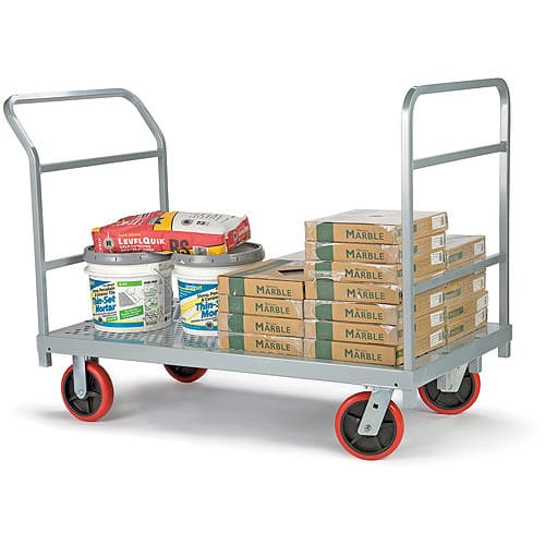 "Heavy Duty Platform Truck with 8"" x 2"" Poly Casters, 3967 $221"