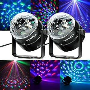 Sound-activated Stage LED Crystal Magic Rotating Ball Effect Stage Lights $10.38