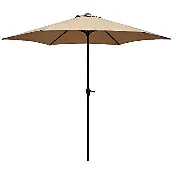 Shilucheng 9' Outdoor Patio Offset Market Crank Umbrella Auto Tilt $29.99