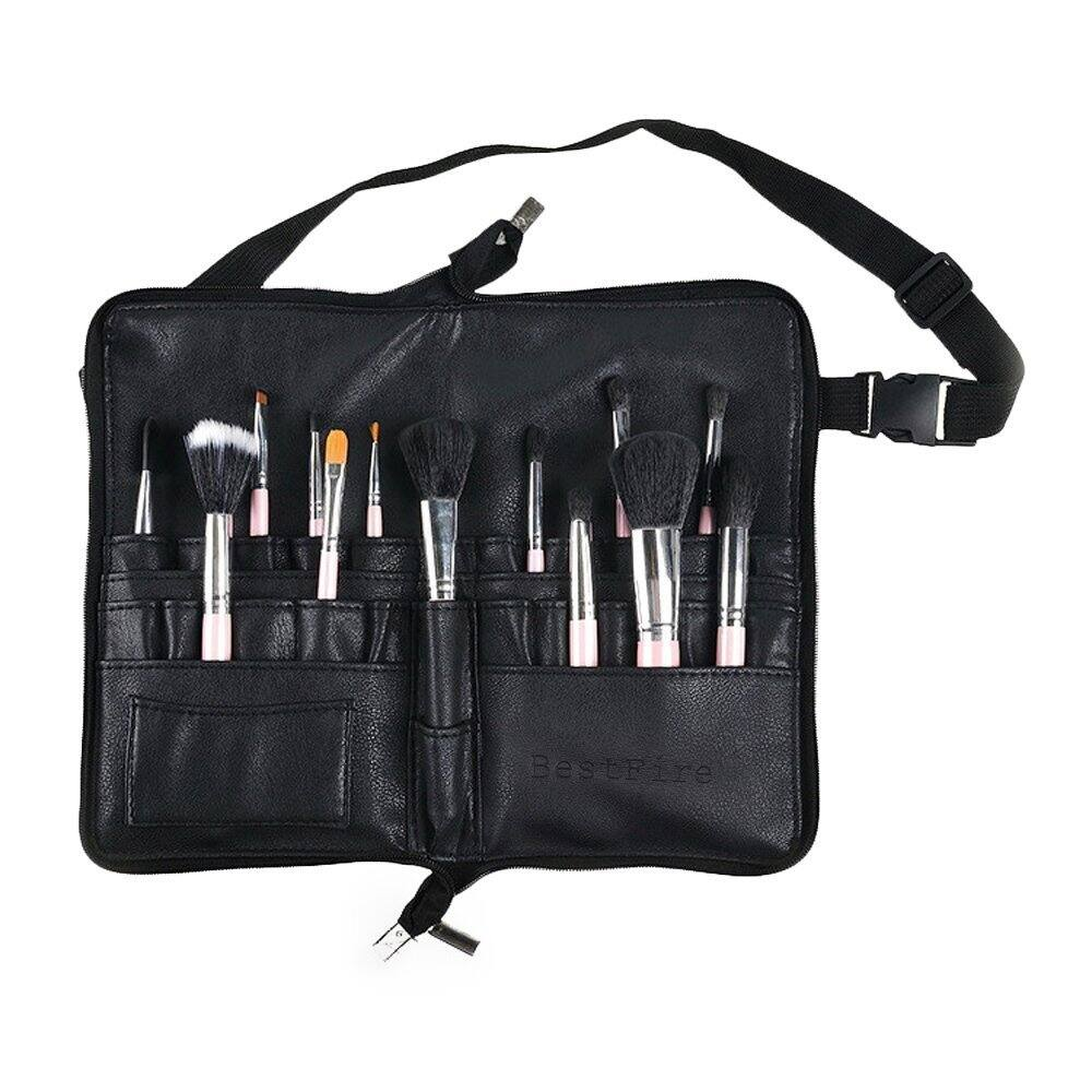 Best Fire Professional Makeup Brush Bag Case Portable 22 Pockets Cosmetic Brush Holder $7.14