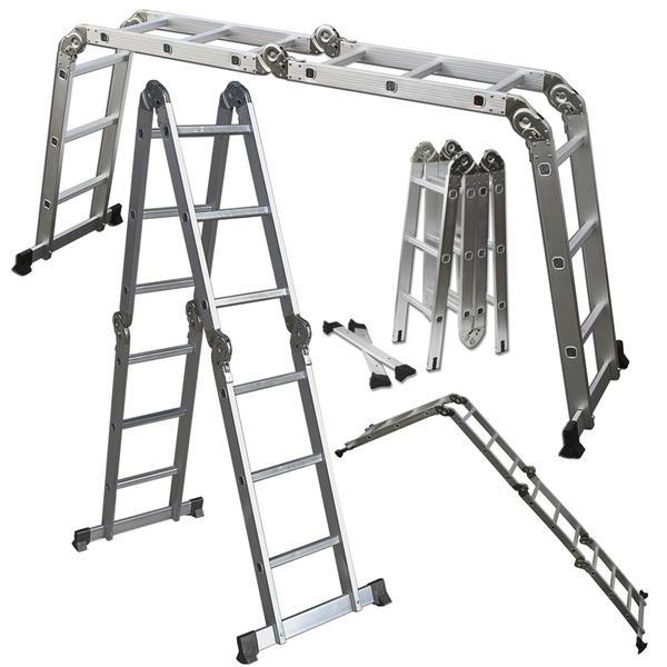 12.5 ft OxGord Heavy Duty Aluminum Folding Ladder for $64.99 + Free Shipping