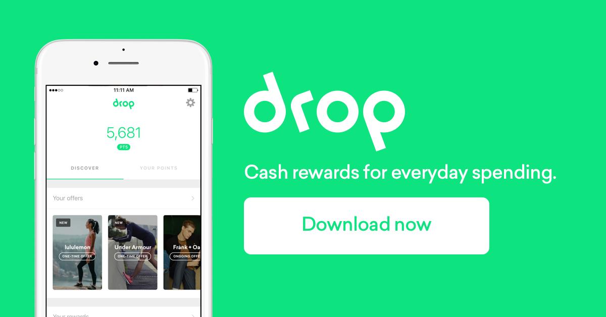 Drop: Cash Rewards for Spending- Get $5 Starbucks Gift Card When You Sign Up