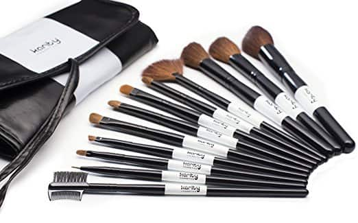 Karity Cosmetics Studio 12-piece Natural Hair Makeup Brush Set With Pouch for $6.90 + FS w/ Prime