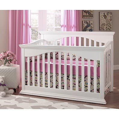 Downton Baby: Bailey 4-in-1 Lifetime™ Crib in White for $150 + Free Shipping