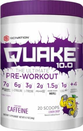 60 Servings (120 Scoops) SciVation Quake 10.0 Pre-Workout for $79.98 + Free Shipping