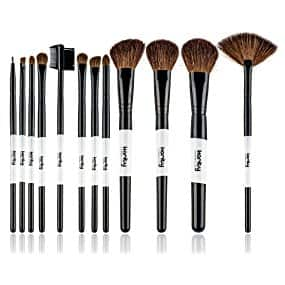 Karity Cosmetics 12 Piece Natural Cosmetic Makeup Brush Kit for $5.57 (Add on item)