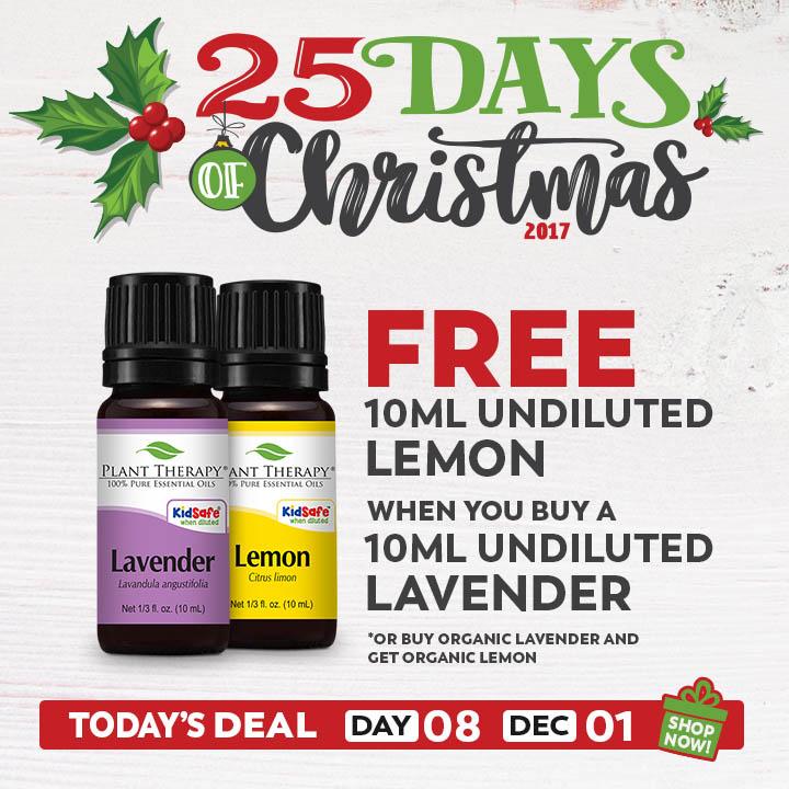 Plant Therapy: Buy 10 ml Lavender Essential Oil get 10 ml Lemon Essential Oil Free- $6.49 + FS