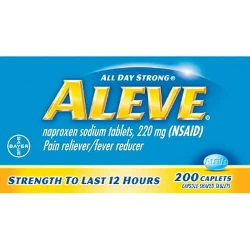 $3 Off Aleve Caplets with Naproxen Sodium, 220mg (NSAID) Pain Reliever/Fever Reducer, 270 Count- $13.80