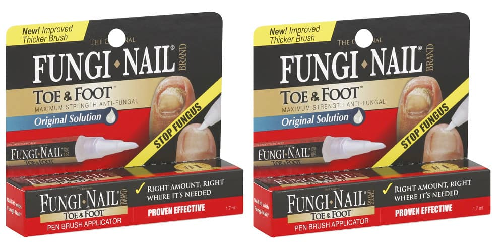 Original Fungi Nail Toe & Foot Max Strength Anti-Fungal Pen Brush, 1.7 ml (2 Pk) for $8.99 + Free Shipping