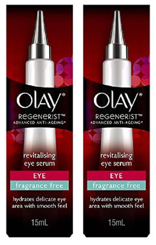 Olay Regenerist Revitalizing Eye Lifting Serum, Fragrance Free, 0.5 Oz (2 Pack) for $16.99 + Free Shipping