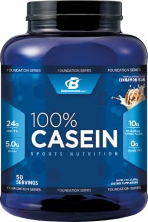 Bodybuilding.com Foundation Series Sports Nutrition 100% Casein 4lb (Cinnamon Bun) for $26.08