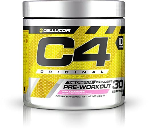 Cellucor C4 Original Pre Workout w/ Creatine, Nitric Oxide & Beta Alanine, Pink Lemonade, 30 Servings for $18.94