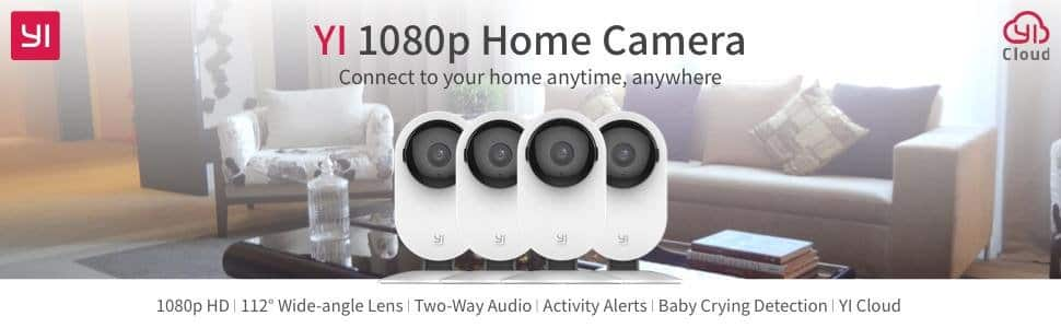 YI Technology: 4pc Home Camera, 1080p Wireless IP Security Surveillance System with Night Vision for $149.99