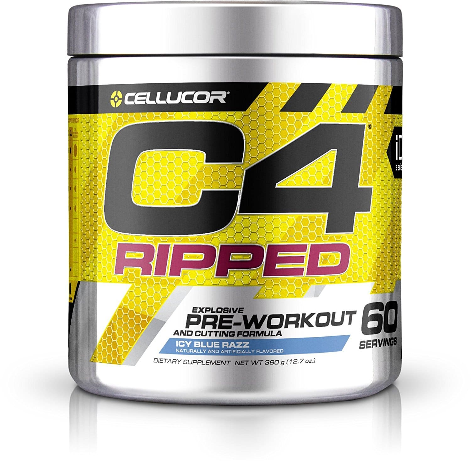 Cellucor C4 Ripped Pre Workout Icy Blue Razz 60 Servings for $38.99 + Free Shipping