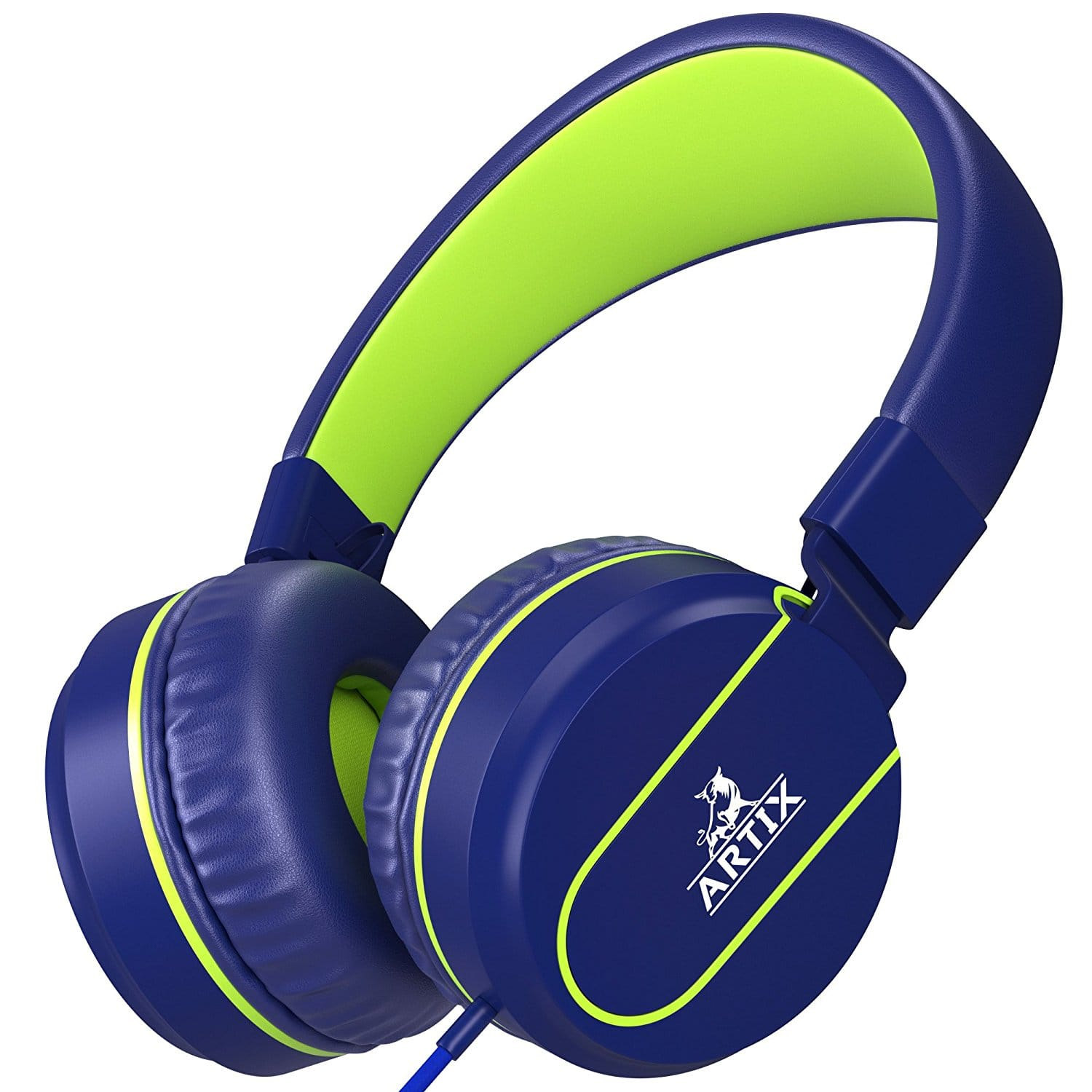 Artix Foldable Headphones with Microphone | NRGSound On-Ear Earphones for $8.99 + Free Shipping w/ Prime
