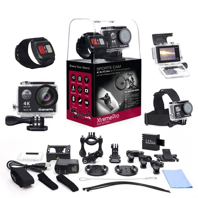 XtremePro 4K HD Sports Camera with Wrist Remote + 20 Accessories for $65.99 + Free Shipping