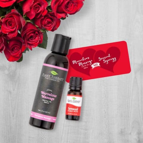 Plant Therapy: Be My Valentine Set (Massage oil and Sensual Synergy Oil) for $16.95 + Free Shipping