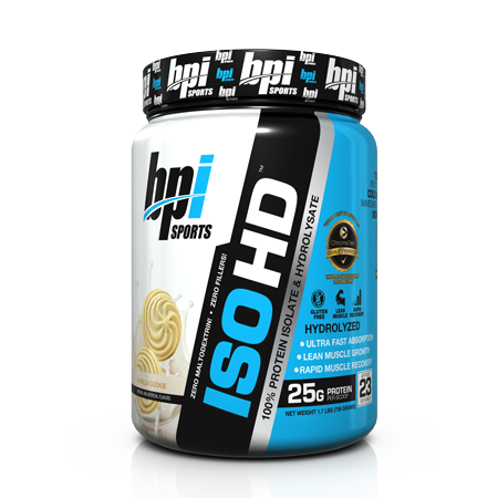 BPI Sports ISO HD 5 lbs (69 Servings) for $33.63 + Shipping