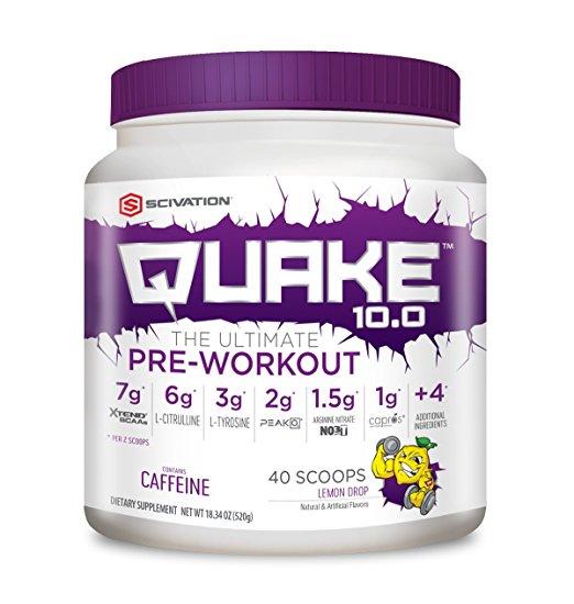 62% off Scivation, Quake 10.0 Pre-Workout (40 servings) for $17.99 + FS w/ Prime