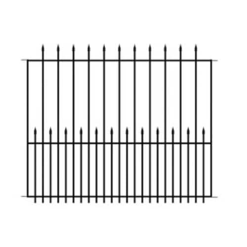 No Dig (Actual: 3.8-ft x 4.7-ft) Grand Empire Black Steel Decorative Fence Panel for $35.98