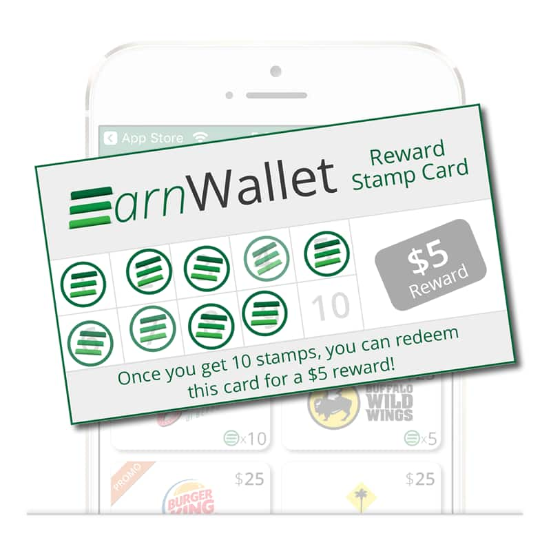EarnWallet app: Earn Rewards At Hundreds Of Restaurants 9 Stamps Bonus w/ new account